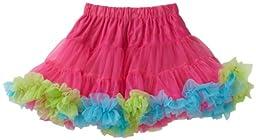 Mud Pie Baby Girls\' Pettiskirt, Hot Pink/Blue/Green, 2T 5T