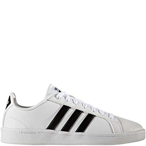 adidas Women's Shoes | Cloudfoam Advantage Sneakers Black/White, ((7.5 M US)