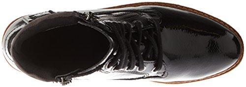 Femme Bottes Patent 25220 Rangers Tamaris Noir black PcCUf7Hwq