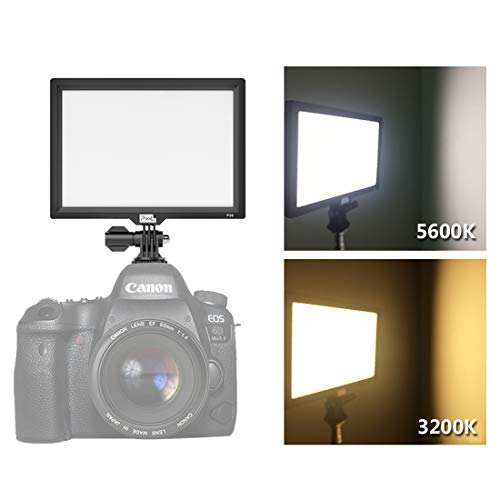 LED video light panel/photography fill light Dimmable Suitable for the scene YouTube portrait product shooting film shooting Nikon Canon Sony Suitable Pentax Panasonic Samsung Olympus. by PIXEL