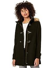 Cole Haan Women's Signature Hooded Wool Duffle Coat