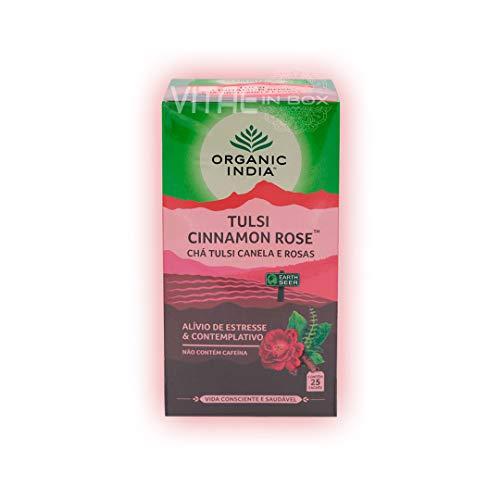 Organic India Tulsi Caffeine Free Tea, Cinnamon Rose, Pack of 3
