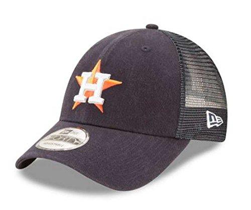 Era Cap Ball Hat New - New Era MLB Houston Astros Trucker 9Forty Adjustable Baseball Hat 940 11591205, Navy