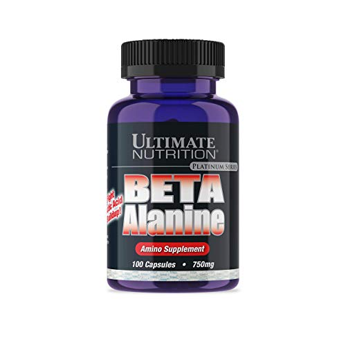 Ultimate Nutrition Beta Alanine Capsules | Increase Metabolism and Boost Energy | 750 MG, 100 Count