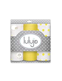 Lulujo Mini Muslin Cotton Cloths, Sunshine Yellow, One Size