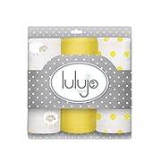 Lulujo Baby Muslin Cloths, Sunshine Yellow, Mini, 3 Count