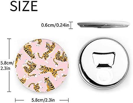 Vector transparente lindo tigres en abrebotellas 2 piezas imanes nevera sacacorchos abrebotellas