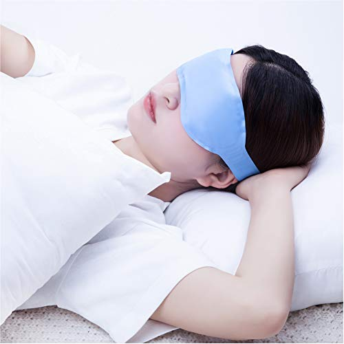 Reusable Ice Eye Mask/Hot and Cold Eye Mask/Cooling Gel Eye Mask for Relaxing Sleep, Migraine Headache, Eye Puffiness, Dark Circle, Dry Eyes and Pain Relief (Blue)
