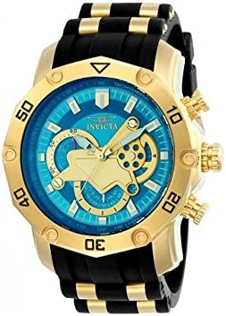 Invicta Men s Pro Diver Quartz Watch with Silicone Strap, Black, 26 Model 23426