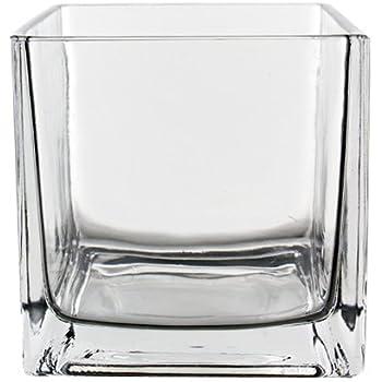 Amazon Koyal Wholesale 404343 12 Pack Cube Square Glass Vases