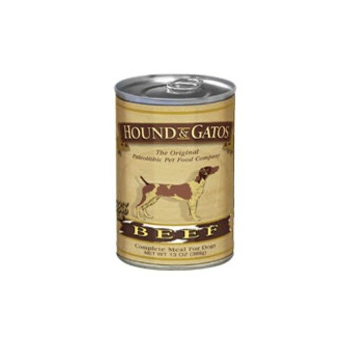 Hound and Gatos Beef Can Dog Food 12pk
