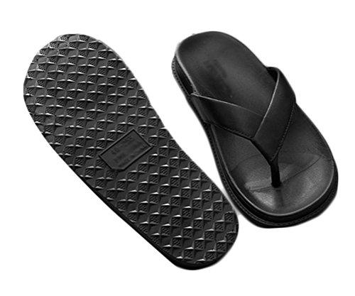 Nanxson (TM) Unisex einfarbig Pantoletten Sandalen Slipper Zehentrenner TX0014 Schwarz