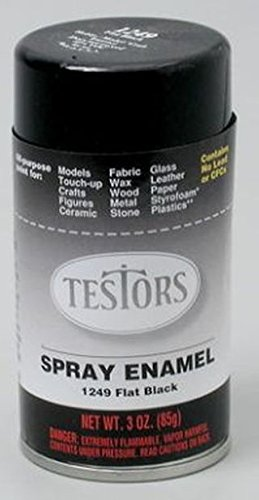 (Flat Black Spray Testors Enamel Plastic Model Paint )