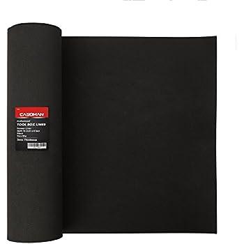 Non-Skid Case Drawer Liner 60/' Length x 3/' Width Black 1//Roll