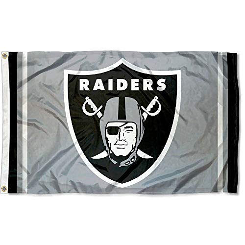 (WinCraft Oakland Raiders Silver Flag )