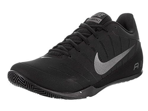Nike Mens Air Mavin Low 2 NBK Basketball Shoe, Black/Metallic Dark Grey, 44 D(M) EU/9 D(M) UK