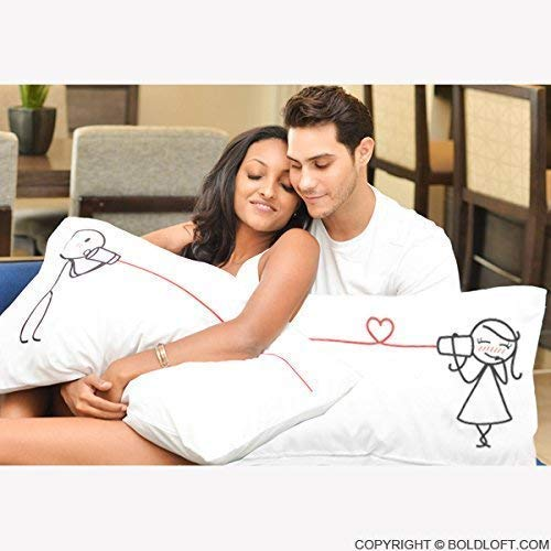 BoldLoft Say I Love You Couples Pillowcases for Her for HerCouple Gifts for  Him and HerHis and Hers GiftsRomantic Gifts for