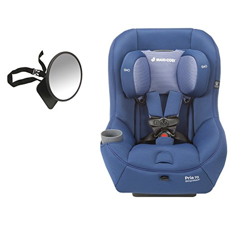 2016 Maxi-Cosi Pria 70 Convertible Car Seat, Blue Base with Back Seat Mirror