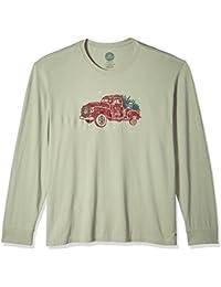 Men's Crusher Long Sleeve Holiday Truck Dstgrn T-Shirt,