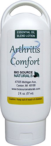 Arthritis Comfort Essential Oil Blend Lotion 2 fl oz / 57 ml with essential oils of Bay Leaf, Tea Tree, Lemon, Cedarwood, Frankincense, and - Oil Blend Angel Essential