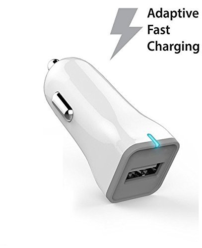 Ixir Quick Charge Travel Rapid Charger Set for LG V10 Quick Travel Wall Charger Set, LG G2, LG G3, LG G4, G Flex X Power Type C Fast Charger, Wall Charger, Car Charge and 2 Micro Cable, White