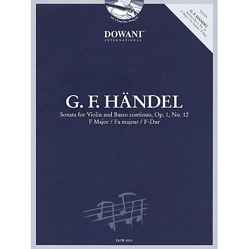 - Handel Sonata for Violin Basso Continuo in F Major Op. 1 No. 12 Dowani Book/CD Softcover with CD Pack of 2
