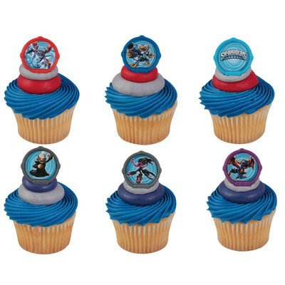 24 Skylanders 3 Portal Power Cupcake Rings Decorations Party -
