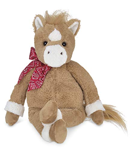Bearington Charlie Plush Brown and White Horse Stuffed Animal, 16 -