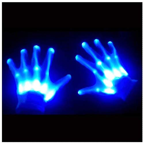 GlowCity Glow-In-the-Dark LED Skeleton Gloves - Flash or Static Light Up Modes