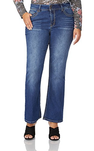 WallFlower Plus Size Luscious Curvy Basic Bootcut Jeans in Addison Size:18