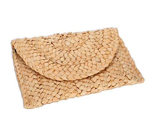 Straw Clutch Summer Evening Handbag Beach Purse Woven Straw Bag Envelope (envelop china)