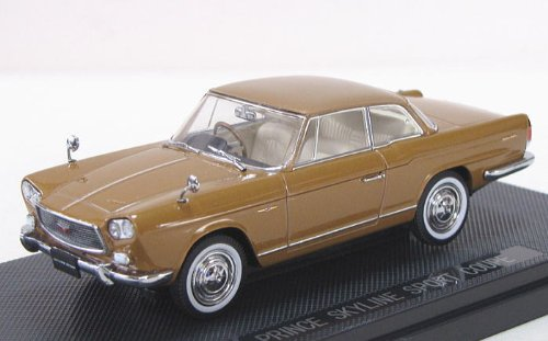 EBBRO 1/43 Prince Skyline Sport Coupe 1962 Gold (Japan-Import)