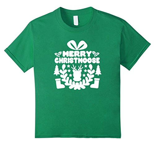 Kids Men and Women's Merry Christmoose Cool T Shirt Funny Custome 12 Kelly (Funny Customes)