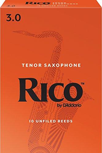 Rico Tenor Sax Reeds, Strength 3.0, 10-pack (Reeds Vandoren Saxophone Tenor)