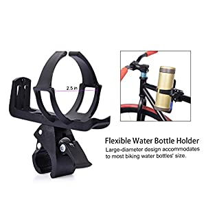 Uarter Adjustable Bike Bicycle MTB Water Bottle Holder Rack Cage Black