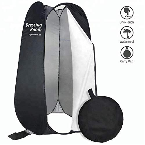 EasyGoProducts EGP-TENT-012-1 EasyGo Changing Dressing Pop Up Shelter for Outdoors Beach Area Grass Shower Room Equipped with Portable Carrying Case. for Clothing Companies, Black