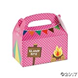 "Each of these Camp Glam Treat Boxes is pre-printed with, ""No Boys Allowed!"" Fill them with glamping party favors for all your chic campfire adventures. Paper. 6 1/4"" x 3 1/2"" x 5 1/2"" Simple assembly required."
