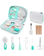 NEWSTYLE Baby Care Set, 11Pcs Baby Grooming Kit Nail Clipper Safety Scissors Hair Brush Comb Manicure Newborn Baby Care Accessories, Infant Essential Daily Care Bathing Tools for Travelling Home Use