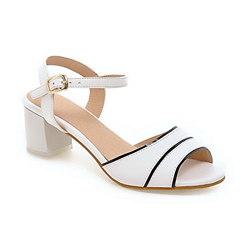 Femme Blanc Ouvert BalaMasa Bout ASL05180 wtHP4OqPI