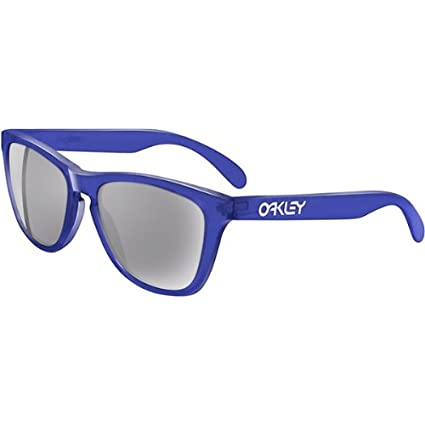 724ed588d0a Image Unavailable. Image not available for. Color  Oakley Red Blue Frogskins  Men s Limited Editions Sports Sunglasses Eyewear - Crystal ...