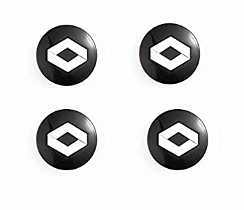 Meow Star Tapas Llantas (57 mm diámetro) Cache Cubos para Renault Badge Logo Emblema: Amazon.es: Coche y moto