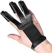 Aomiun 1pcs Archery Fingers Protector 3 Finger Glove Archery Finger Tabs Archery Guard Accessories