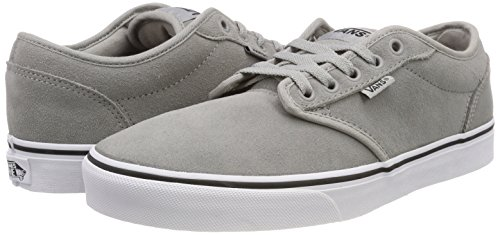 U0v Gris Drizzle Sneakers white suede Vans Suede Basses Homme Atwood q0FCwCznxS