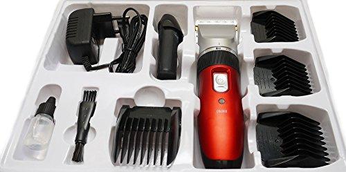 Akku Profi Haarschneider - Haarschneidemaschine ideal für Friseur Salon oder privaten Gebrauch - Set mit umfangreichem Zubehör. Netz und Akkubetrieb.