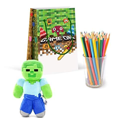 Premium Pixel Party Bags, Video Game,Treat Bags,Gamer Party, New, Gift Bags,Goody Bags, Pixel Party Favors, Pixel Party…