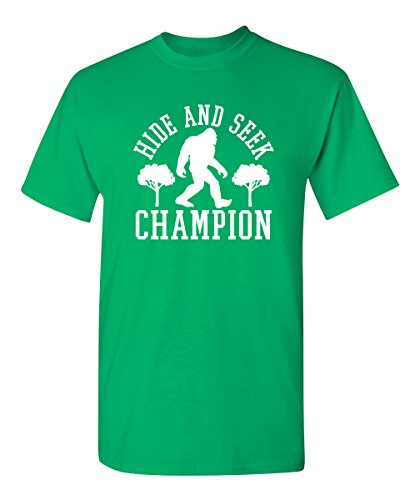 Bigfoot Hide and Seek Champion Sarcastic Novelty Sarcastic Humor Funny T Shirt 2XL ()