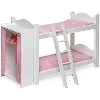 Amazoncom Badger Basket Doll Bunk Beds With Ladder Fits - Dolls bunk bed
