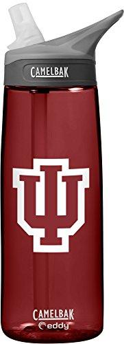 CamelBak NCAA Indiana Hoosiers Unisex Eddy 75L Collegiate Water Bottle, Cardinal, 75 Liter