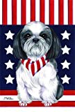 Cheap Shih Tzu Brown/White by Tomoyo Pitcher, Patriotic Themed Dog Breed Flags 28 x 40