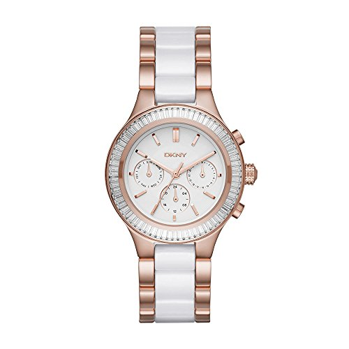 - DKNY Women's 'Chambers' Quartz Stainless Steel and Ceramic Casual Watch, Color:Rose Gold-Toned (Model: NY2498)
